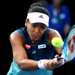 MELBOURNE, AUSTRALIA - JANUARY 26: Naomi Osaka of Japan plays a backhand in her Women's Singles Final match against Petra Kvitova of the Czech Republic during day 13 of the 2019 Australian Open at Melbourne Park on January 26, 2019 in Melbourne, Australia. (Photo by Michael Dodge/Getty Images)